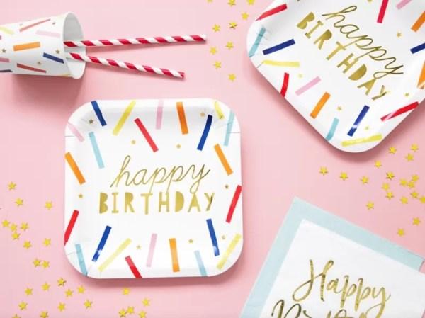 TALERZYKI HAPPY BIRTHDAY KOLOR 3