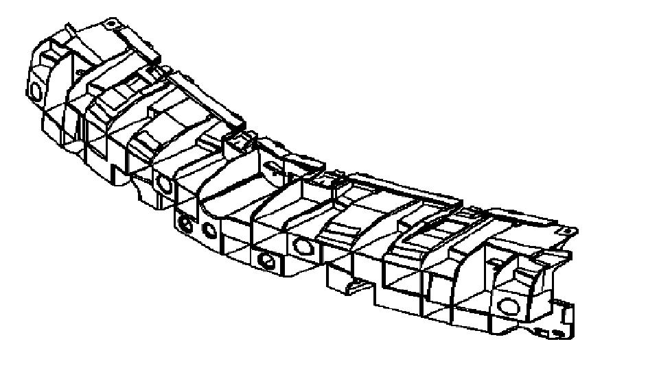 Ślizg środkowy zderzak przedniego Opel Astra H 3D (GTC