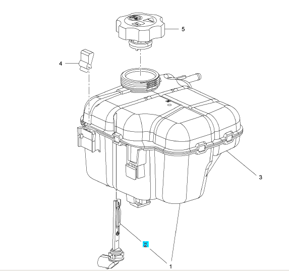 Czujnik poziomu cieczy chłodzącej 13393366 (Astra J