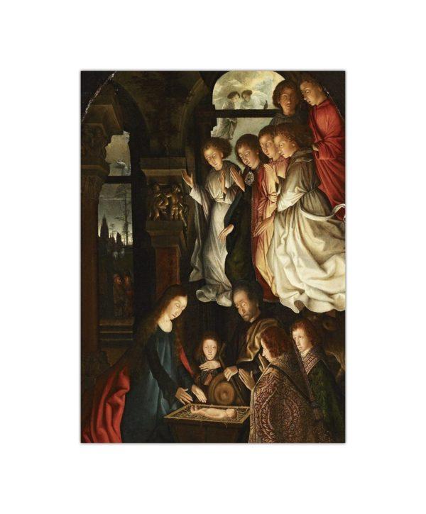 Kartka bożonarodzeniowa – Anonim, Narodzenie, ok. 1500