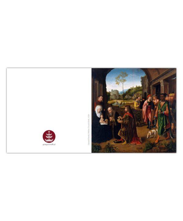 Kartka bożonarodzeniowa – Gerard David, Pokłon Trzech Króli, 1520