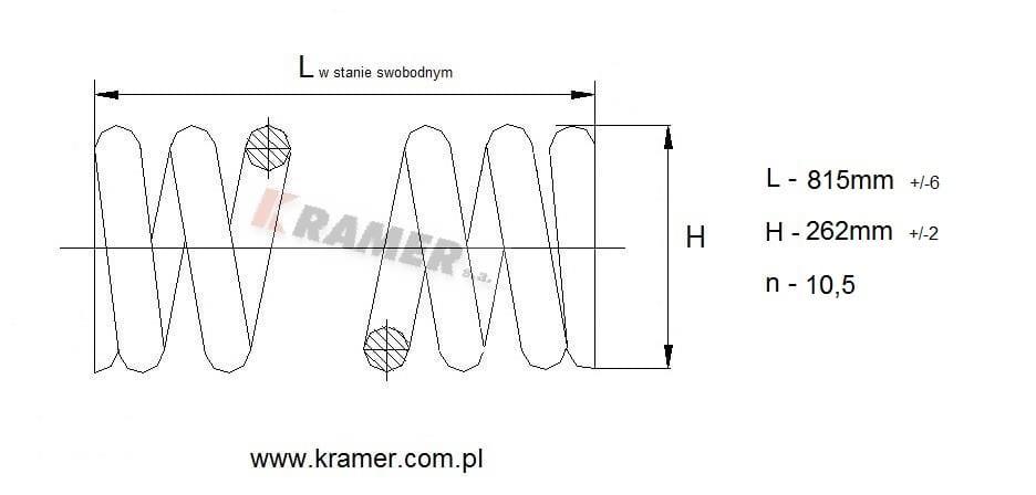 Sprężyna napinacza gąsienicy Komatsu PC300-7 i 8 Kramer S