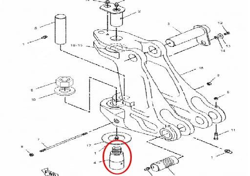 Sworzeń stożkowy konika CAT 416 / 426 / 428 B i C Kramer S