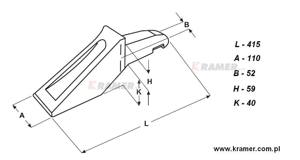 Ząb Bofors typ ładowarka 33102 (3032705) Kramer S.A