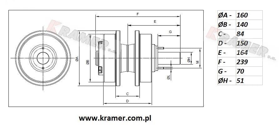 Rolka podtrzymująca KOBELCO SK170 SK210 / 250-IV Kramer S