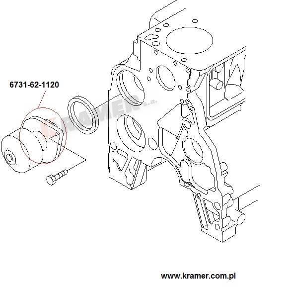 Pompa wody KOMATSU PC PW WA D41 silnik 6D102 4D102 Kramer