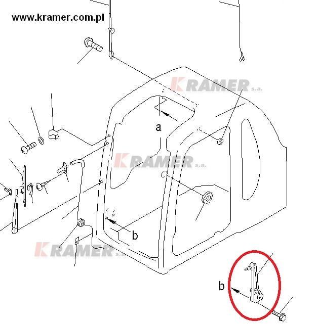 Silnik wycieraczki KOMATSU PC210-6 mechanizm kpl Kramer S