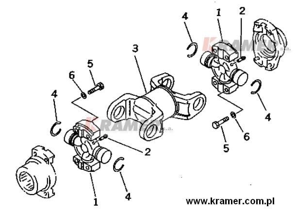 Wał kardana spycharki KOMATSU D65 D70 D85 Kramer S.A