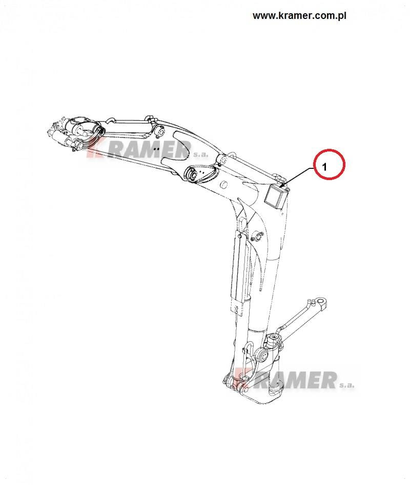 Lampa robocza mini JCB 8020 / 8018 / 8080 Kramer S.A