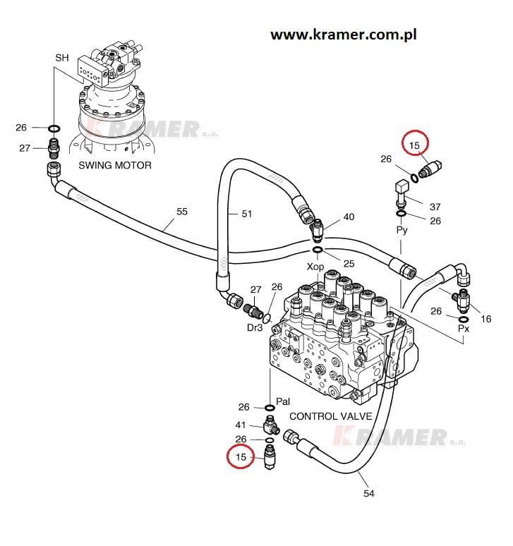 Czujnik ciśnienia DOOSAN DX DAEWOO SOLAR Kramer S.A