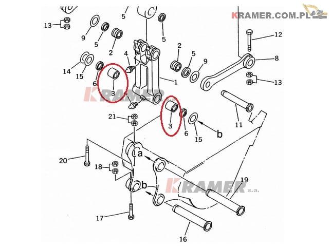Tuleja wysięgu Komatsu PC200 PC210 PC240 Kramer S.A