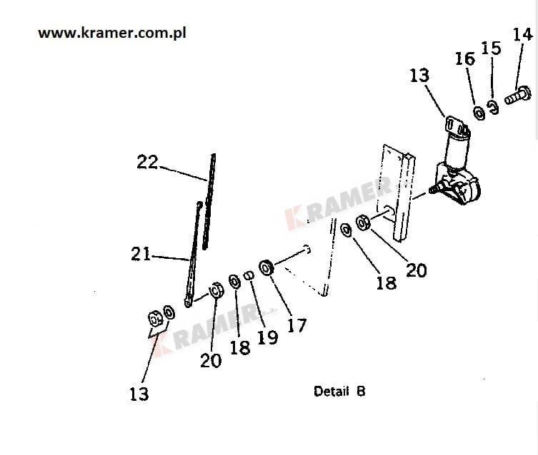 Silnik wycieraczki KOMATSU PC210-3 mechanizm kpl Kramer S