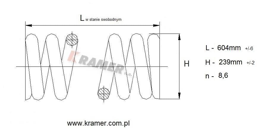 Sprężyna napinacza gąsienicy Komatsu PC210/220/240 Kramer
