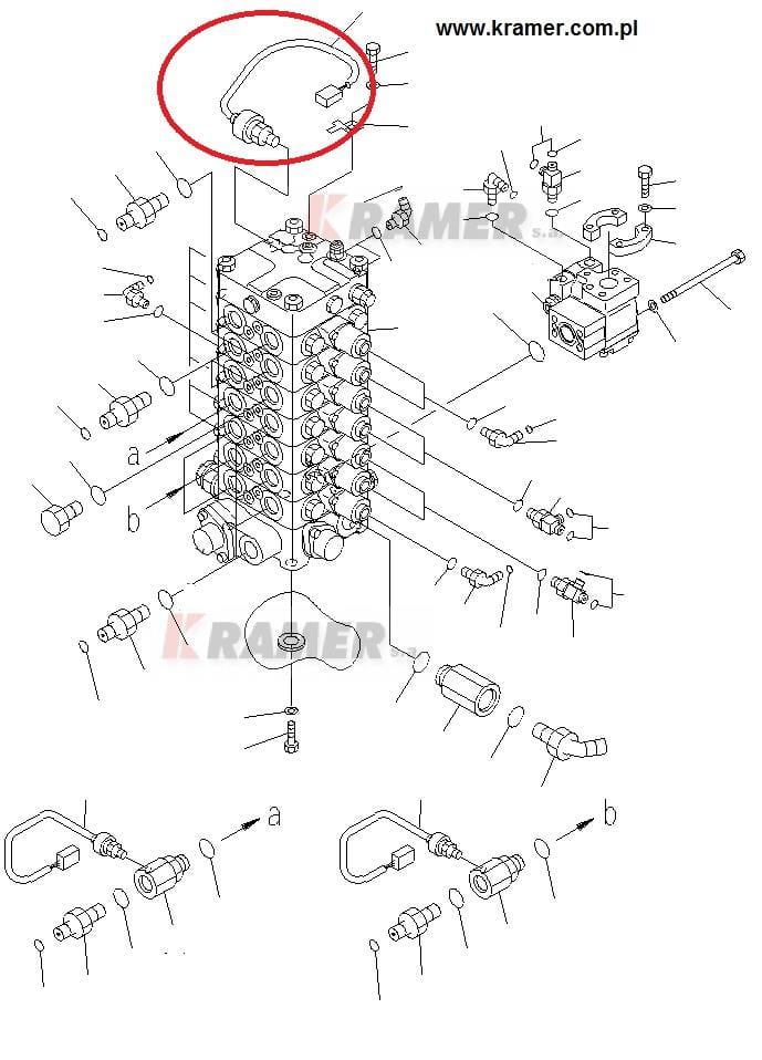 Czujnik ciśnienia oleju hydr. Komatsu PC210 PC300 Kramer S