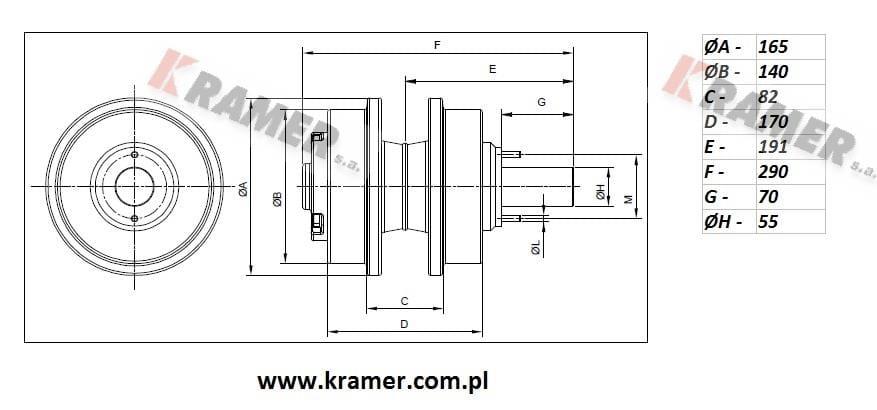 Rolka podtrzymująca Komatsu PC210 PC220 PC240 Kramer S.A