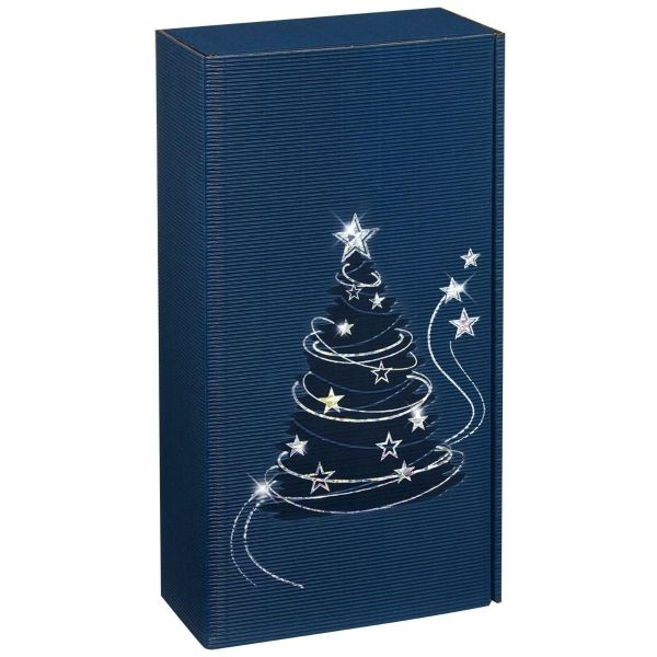 Pudełko prezentowe szafirowy Blask 2x0,75l