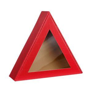 Pudełko prezentowe trójkąt czerwony