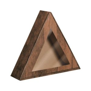 Pudełko prezentowe z okienkiem trójkątne
