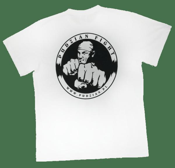 Sama koszulka z tyłu - Pudzian Fight biała