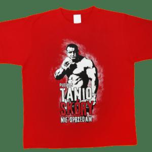 Sama koszulka z przodu - Tanio skóry nie sprzedam czerwona