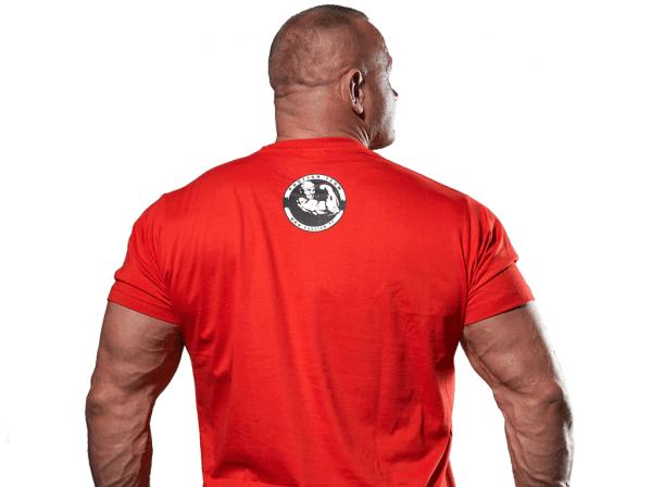 Samo się nic nie zrobi czerwona koszulka z tyłu