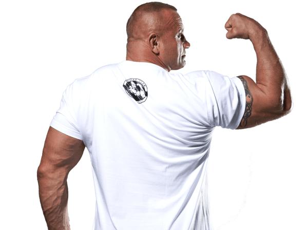 Tanio skóry nie sprzedam biała koszulka z tyłu
