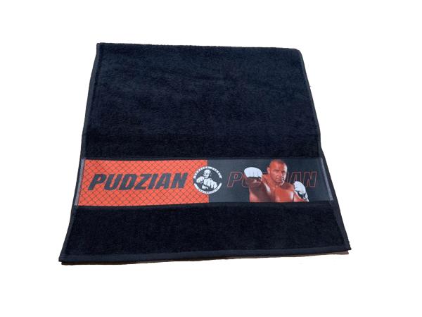 Czarny ręcznik Pudzian Team