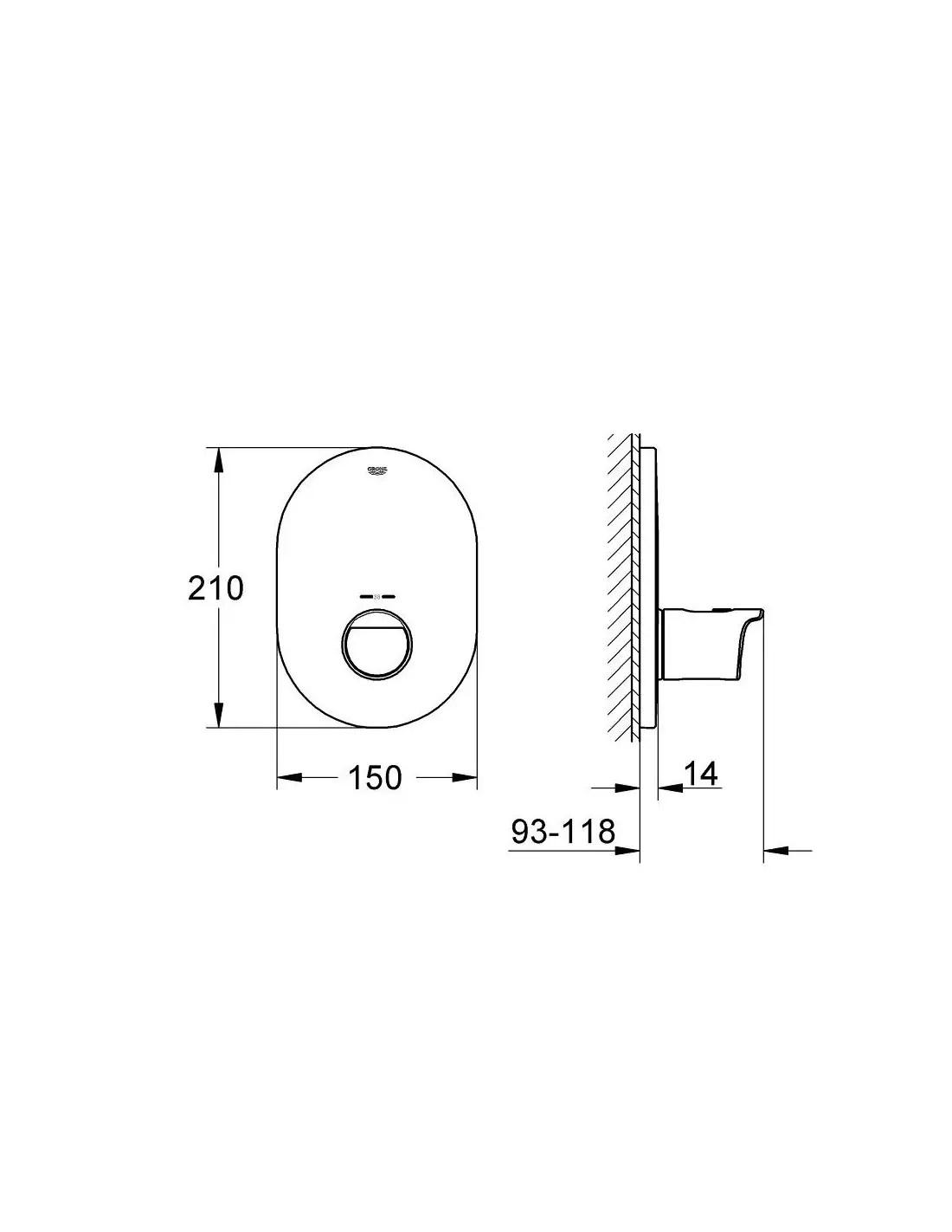 Bateria centralna z termostatem Grohtherm 2000 Grohe