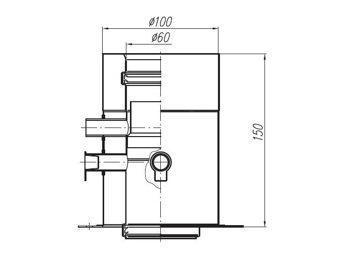 Adapter Saunier Duval 60/100 z odskraplaczem :: Adamus