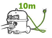 długi kabel 10 m odkurzacz piorący GVE 370 Numatic