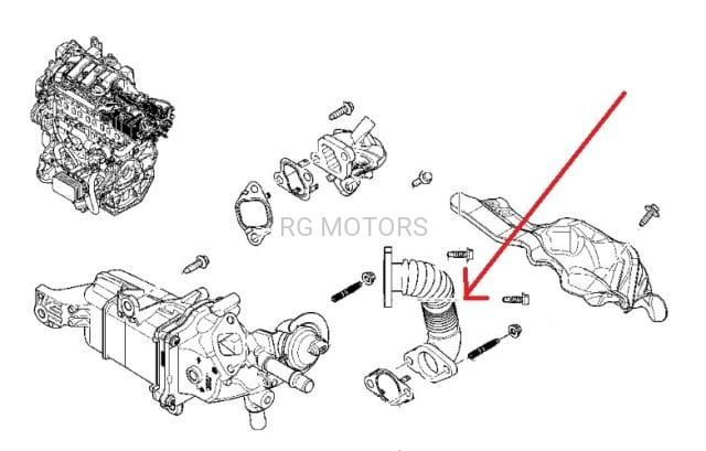 Rurka EGR rura Renault Espace V, Koleos II, Megane III, IV