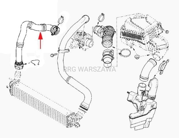 Rura powietrza intercoolera Renault Laguna III, Latitude