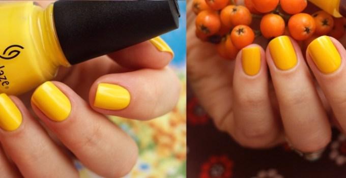 yellow nail polishes