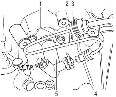 Замена трубопровода гидропривода выключения сцепления
