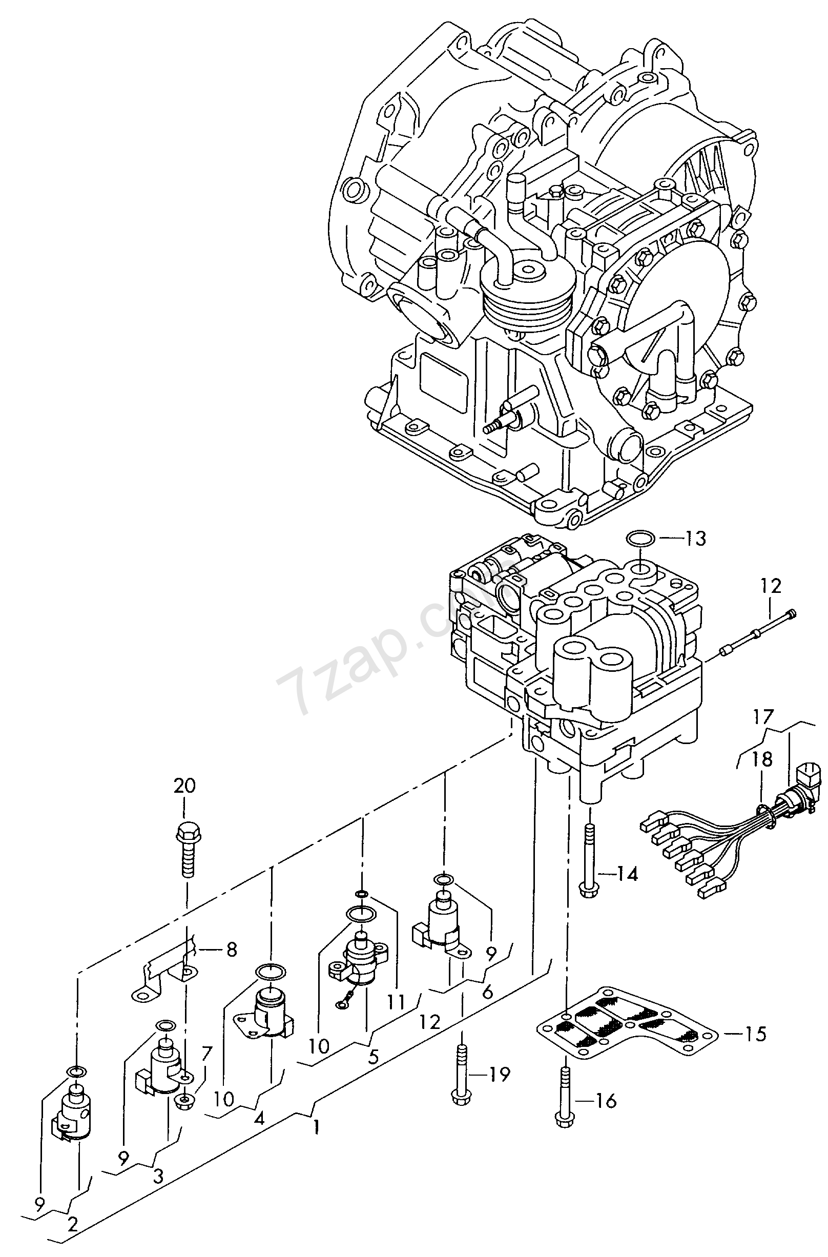 valve body; oil strainer; for 4-speed automatic ge