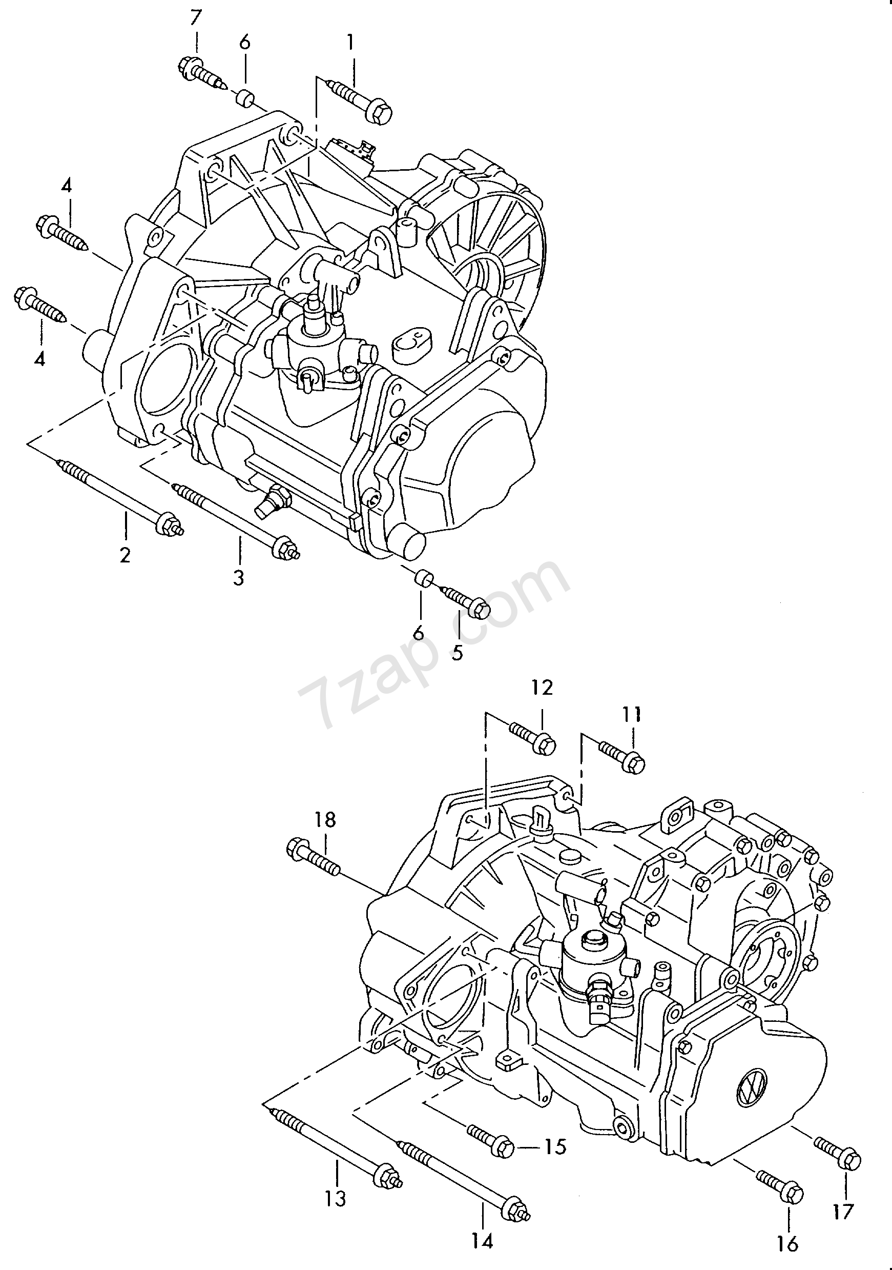 mounting parts for engine and transmission; for 6