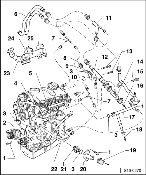 Skoda Workshop Manuals > Fabia Mk1 > Engine > 1.9/74 TDI