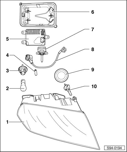 Skoda Workshop Manuals > Octavia Mk2 > Vehicle electrics