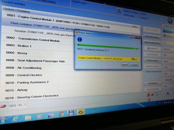 Загрузка кастомного SGO файл для 3T0907115F