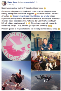 Skydive Atmosfera opinie