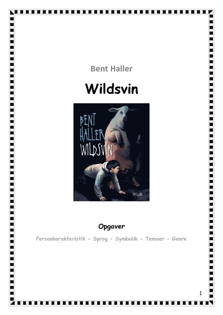 Wildsvin – et undervisningsforløb