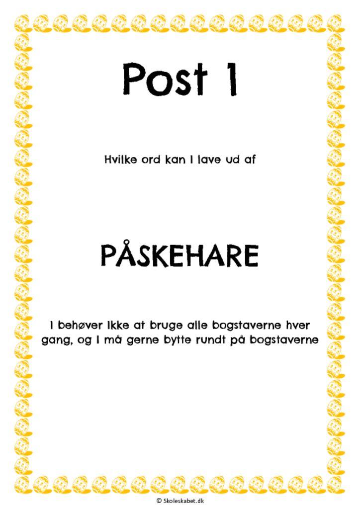 Danskløb – påske