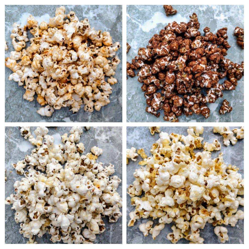 4 forskellige slags popcorn