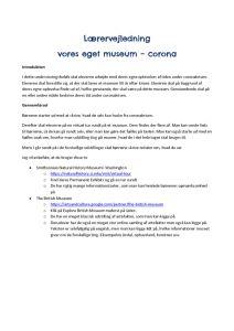 thumbnail of Vores eget museum – corona – lærervejledning
