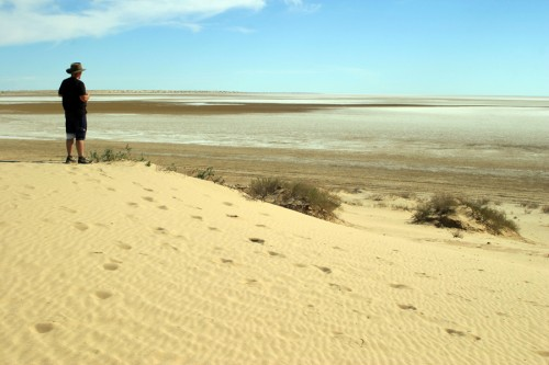 Eyreovo jezero - lake Eyre 1