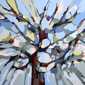 Abstrakt maleri af træets mangfoldighed