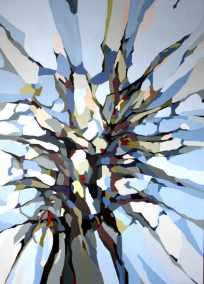 Abstrakt maleri af et træ