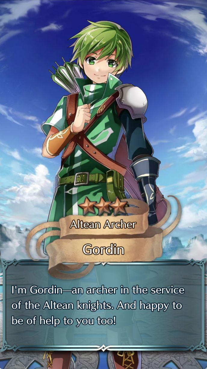 gordin altean archer 3 star summon