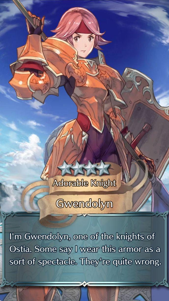 gwendolyn adorable knight 4 star summon