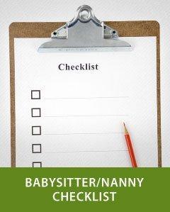 Babysitter and Nanny Checklist